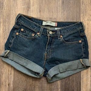 Levi's Strauss size 4 boot cut jean shorts